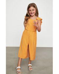 BCBGMAXAZRIA Bcbg Ruffle Strap Jumpsuit - Orange