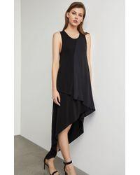 BCBGMAXAZRIA Bcbg Asymmetrical Mixed Media Dress - Black