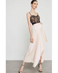BCBGMAXAZRIA Bcbg Asymmetrical Satin Maxi Wrap Skirt - Pink
