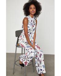 BCBGMAXAZRIA Bcbg Wildflowers Pajama Pant - White