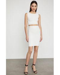 BCBGMAXAZRIA Bcbg Alexa Sweater Skirt - White