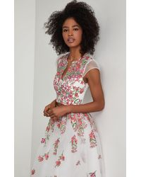 BCBGMAXAZRIA - Bcbg Embroidered Floral Cropped Top - Lyst