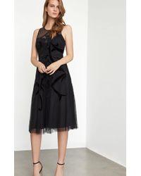 BCBGMAXAZRIA - Illusion Velvet-appliqué A-line Dress - Lyst