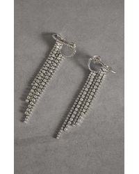 BCBGMAXAZRIA Bcbg Drop Earrings With Swarovski® Crystals - Metallic