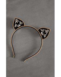 BCBGMAXAZRIA Bcbg Cat Ear Headband - Metallic