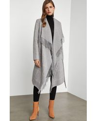 BCBGMAXAZRIA Bcbg Wool Wrap Coat - Gray