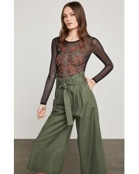 BCBGMAXAZRIA - Sheer Floral-embroidered Bodysuit - Lyst