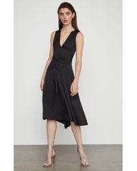 5573e6f710f BCBGMAXAZRIA Stephana Faux-leather Shirt Dress in Black - Lyst