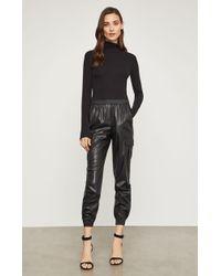 BCBGMAXAZRIA Bcbg Cian Faux-leather Cargo Pant - Black