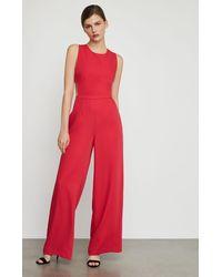 BCBGMAXAZRIA Bcbg Rossana Cutout Jumpsuit - Red