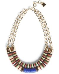 BCBGMAXAZRIA - Dual Beaded Chain Necklace - Lyst