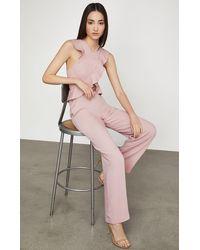 BCBGMAXAZRIA Bcbg Ruffle Trim Jumpsuit - Pink