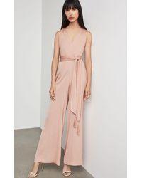 BCBGMAXAZRIA Bcbg Cahya Tie-waist Jumpsuit - Pink