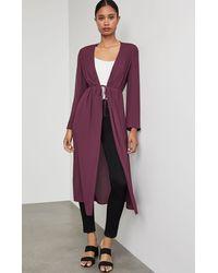 BCBGMAXAZRIA Bcbg Tie Robe - Purple