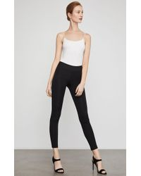 85156a2cd3f59f BCBGMAXAZRIA Faux Leather Cropped Pants in Black - Lyst