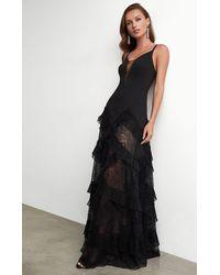 BCBGMAXAZRIA Bcbg Avaline Pleated Gown - Black