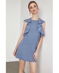 06f41ffe9a3 BCBGMAXAZRIA - Bcbg Jenni Ruffle-shoulder Racerback Dress - Lyst