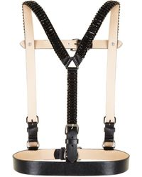 BCBGMAXAZRIA | Stone Embellished Faux-leather Harness | Lyst
