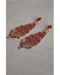 BCBGMAXAZRIA - Bcbg Stone Chandelier Earrings - Lyst