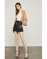 BCBGMAXAZRIA - Bcbg Faux Leather Paperbag Waist Short - Lyst