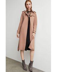 BCBGMAXAZRIA Bcbg Wool Trench Coat - Natural
