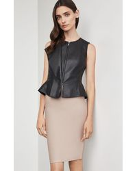 BCBGMAXAZRIA Bcbg Liu Faux Leather Vest - Black