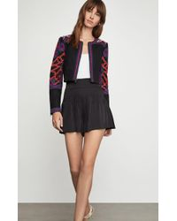 1ade622ce4aa2 BCBGMAXAZRIA - Bcbg Embroidered Cropped Jacket - Lyst
