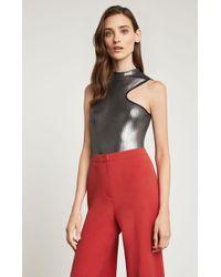 BCBGMAXAZRIA - Bcbg Metallic Cutout Bodysuit - Lyst