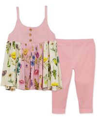 BCBGMAXAZRIA Bcbg Mixed Floral Top And Legging Set - Pink