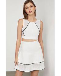 BCBGMAXAZRIA Bcbg Ingrid Scalloped A-line Skirt - White