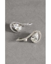 BCBGMAXAZRIA Bcbg Pavé Earrings With Swarovski® Crystals - Metallic