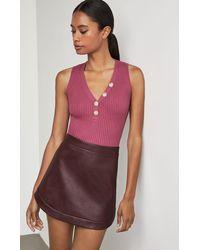 BCBGMAXAZRIA Bcbg Kanya Faux-leather Miniskirt - Black