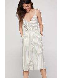 BCBGeneration Multi-stripe Culotte Jumpsuit - Multicolour