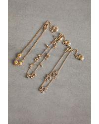 BCBGeneration Set Of 3 Festival Charm Bracelets - Metallic