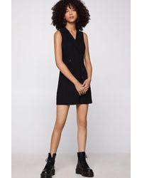 BCBGeneration Tuxedo Dress - Black
