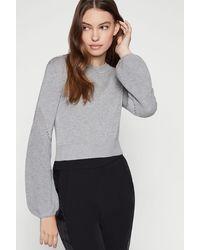 BCBGeneration Bell Sleeve Sweater - Gray