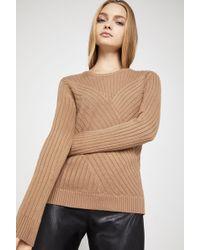 BCBGeneration - Aran-style Cotton Sweater - Lyst