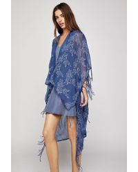 BCBGeneration - Rosebud Embroidered High-low Wrap - Lyst