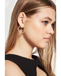 BCBGeneration - Pave Double Circle Earring - Lyst