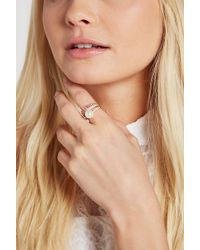 BCBGeneration - Faux-pearl Spike Pave Ring - Lyst