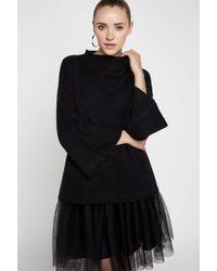 BCBGeneration - Mock Turtleneck Sweater Top - Lyst