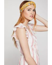BCBGeneration Femme Floral Headband - Yellow