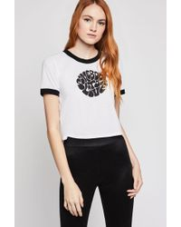 BCBGeneration - Somebody To Love Cropped Tee - Lyst