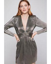 BCBGeneration Metallic Empire Waist Dress
