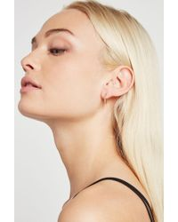BCBGeneration - Pave Single Row Huggie Earring - Lyst