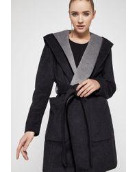 BCBGeneration - Shawl-collar Hooded Wrap Coat - Lyst