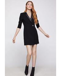 BCBGeneration Mixed-media Blazer Dress - Black
