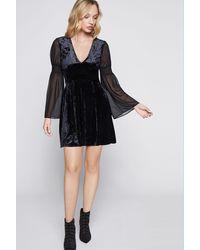 BCBGeneration Velvet Mini Dress - Black