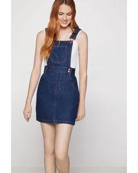 BCBGeneration Denim Overall Dress - Blue