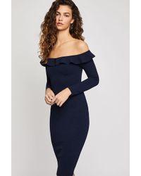 BCBGeneration - Off The Shoulder Ruffle Dress - Lyst